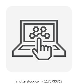 Chemical lab and tool icon design, editable stroke.