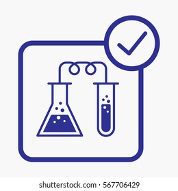 Chemical Labs Icon. Flat Isolated Vector Graphic  Symbol Outline Style