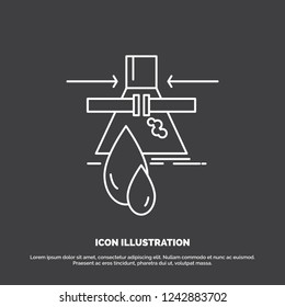 Chemical, Leak, Detection, Factory, pollution Icon. Line vector symbol for UI and UX, website or mobile application