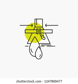 Chemical, Leak, Detection, Factory, pollution Line Icon