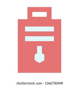 Chemical Notes, Paper, Laboratories, Flat Style Icon Vector - Vector