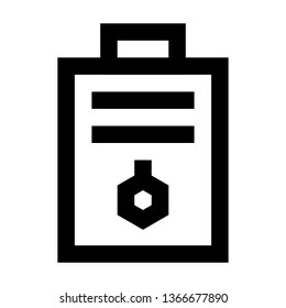 Chemical Notes, Paper, Laboratory, Outline Style Icon Vector - Vector