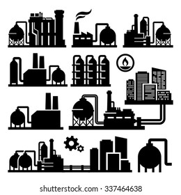 Chemical Plant Factory vector icon