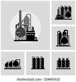 Chemical plant vector icon