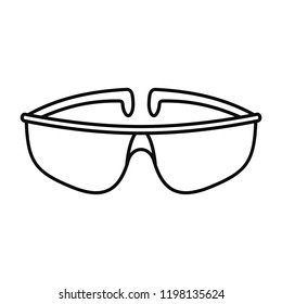 Chemical protect glasses icon. Outline illustration of chemical protect glasses vector icon for web design isolated on white background