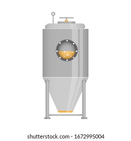 Chemical reactor. Chemistry. Vector illustration