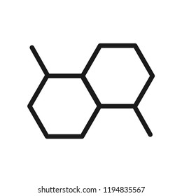 Chemical structure icon. Science lab concept, simple flat design. Isolate on white background.