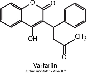 Chemical structure of Varfariin