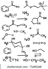 Chemical structures - vector.