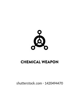 chemical weapon icon vector. chemical weapon sign on white background. chemical weapon icon for web and app