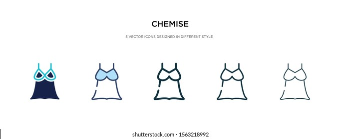 chemise icon in different style vector illustration. two colored and black chemise vector icons designed in filled, outline, line and stroke style can be used for web, mobile, ui