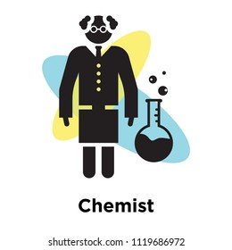 Chemist icon vector isolated on white background for your web and mobile app design, Chemist logo concept