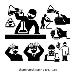 Chemist and Material Scientist icons vector