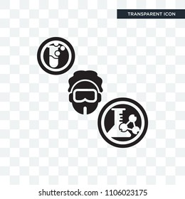 Chemist vector icon isolated on transparent background, Chemist logo concept