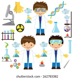 Chemist vector illustration
