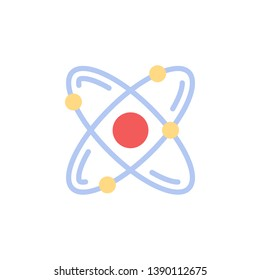 Chemistry, atom color icon. Element of chemistry color icon. Premium quality graphic design icon. Signs and symbols collection icon for websites, web design, mobile app