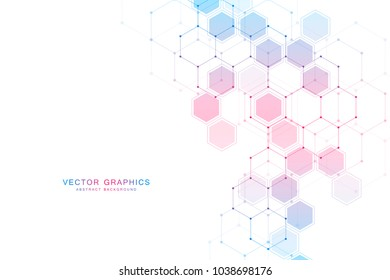 Chemistry background and molecular structure. Science and technology vector illustration