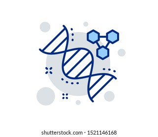 Chemistry dna line icon. Laboratory analysis sign. Chemical formula symbol. Linear design sign. Colorful chemistry dna icon. Vector