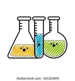 Chemistry flask glass