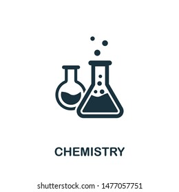 Chemistry icon vector illustration. Creative sign from education icons collection. Filled flat Chemistry icon for computer and mobile. Symbol, logo vector graphics.