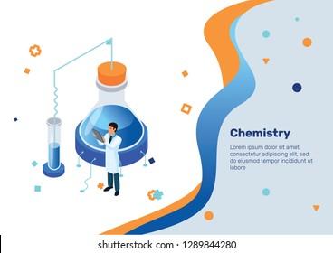 Chemistry. Isometric Concept.