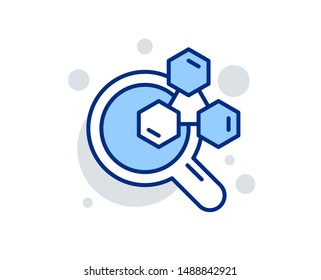 Chemistry lab line icon. Laboratory research sign. Analysis symbol. Linear design sign. Colorful chemistry lab icon. Vector