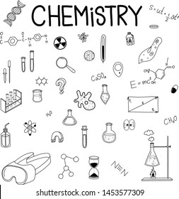 Chemistry lab set,  collection vector