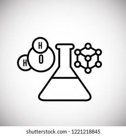 Chemistry science thin line on white background icon