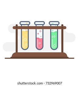 Chemistry vector flat illustration.