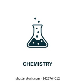 Chemistry vector icon illustration. Creative sign from biotechnology icons collection. Filled flat Chemistry icon for computer and mobile. Symbol, logo vector graphics.