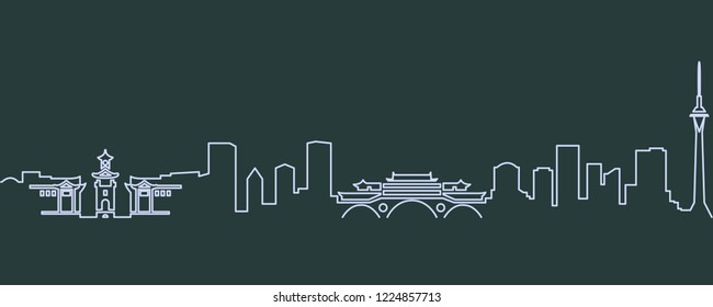Chengdu Single Line Skyline