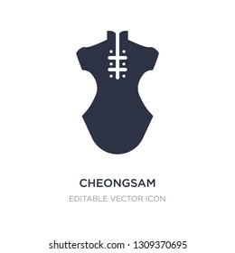 cheongsam icon on white background. Simple element illustration from Fashion concept. cheongsam icon symbol design.