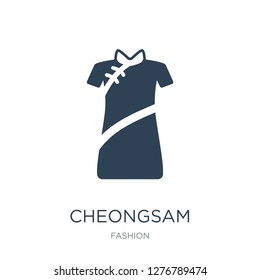 cheongsam icon vector on white background, cheongsam trendy filled icons from Fashion collection, cheongsam vector illustration