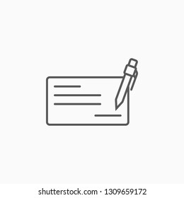 cheque book icon