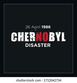 Diseño del logotipo del vector de recuerdo de desastres de Chernobyl