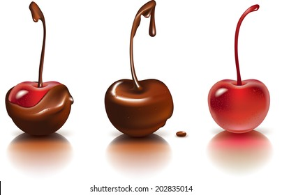 Cherries and chocolate