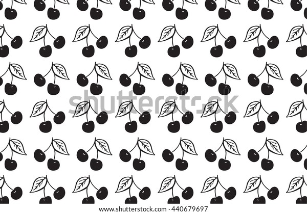 cherry berries graphic vector pattern