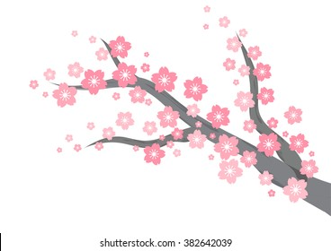 фотообои cherry blossom branch background