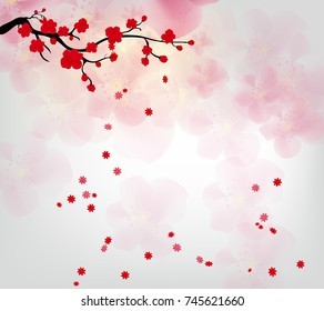 Cherry blossom for Chinese New Year and lunar new year 2018