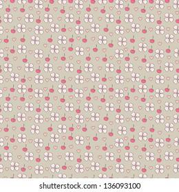 Cherry blossom seamless pattern