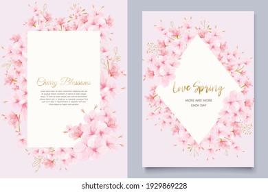 cherry blossom spring card set