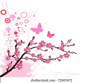 Фотообои cherry blossom - vector