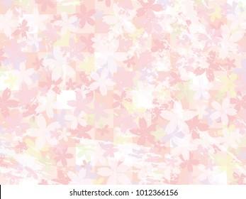 Cherry blossom vector background