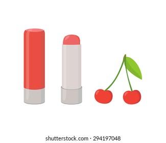 Cherry flavored lip balm
