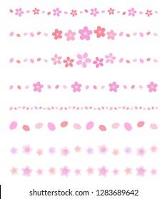 Cherry flower decoration line set