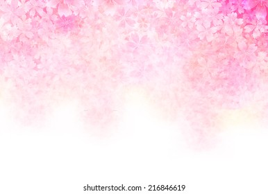 Pink flower background images stock photos vectors shutterstock cherry greeting cards background mightylinksfo
