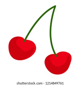Cherry icon. Cartoon of cherry vector icon for web design isolated on white background