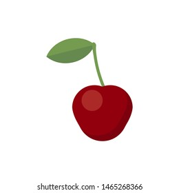 cherry isolated on white background. Vector illustration. Eps 10.