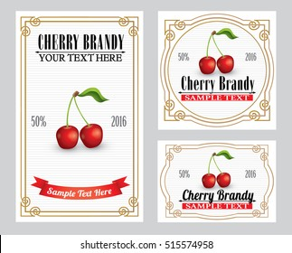Cherry liquor retro style label
