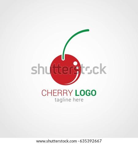 cherry logo design template stock vector royalty free 635392667